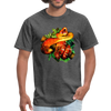 Striking tree snake t-shirt - Animal Face T-Shirt - heather black