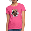 Cat with eyes Women's T-Shirt - heather pink