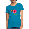 Hummingbird with a flower Women's T-Shirt - turquoise