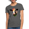 Holstein cow Women's T-Shirt - charcoal