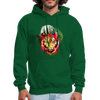 Tiger with Moon Hoodie - forest green