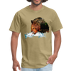 Grizzly eating t-shirt - Animal Face T-Shirt - khaki