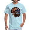 Turkey t-shirt - Animal Face T-Shirt - powder blue