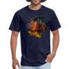 Horse t-shirt - Animal Face T-Shirt - navy