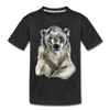 Polar bear Kid's Premium Organic T-Shirt - black