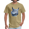 Nothern Lynx t-shirt - Animal Face T-Shirt - khaki