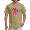 Hummingbird with flowers t-shirt - Animal Face T-Shirt - khaki