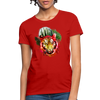 Watercolor Tiger Women's T-Shirt - red
