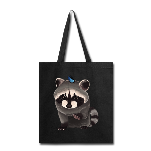 Raccon Tote Bag - black