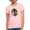 Wolf face Women's T-Shirt - pink