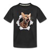 Cat with eyes Kid's Premium Organic T-Shirt - black