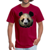 Panda t-shirt - Animal Face T-Shirt - dark red