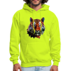 Tiger Men's Hoodie - safety green