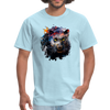 Black panther t-shirt - Animal Face T-Shirt - powder blue