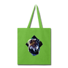 Wolf Tote Bag - lime green