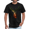 Deer t-shirt - Animal Face T-Shirt - black