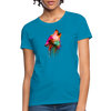 Howling Wolf Women's T-Shirt - turquoise