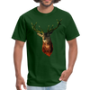 Deer t-shirt - Animal Face T-Shirt - forest green