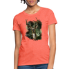 Deer with foliage Women's T-Shirt - heather coral