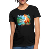 Fox with river Women's T-Shirt - black
