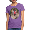 Mandrill Monkey Women's T-Shirt - purple heather