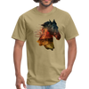 Horse t-shirt - Animal Face T-Shirt - khaki