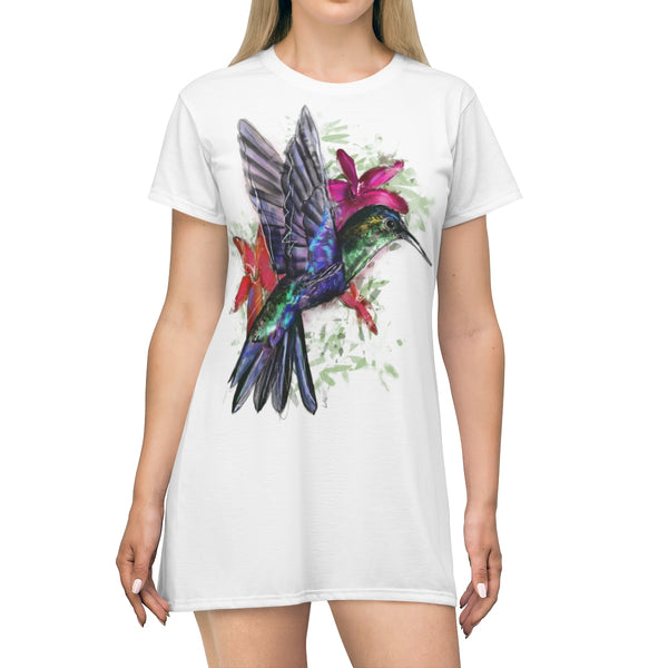 Hummingbird AOP T-shirt Dress