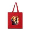 Praying Cat Tote Bag - red