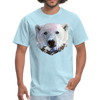 Polar bear t-shirt - Animal Face T-Shirt - powder blue