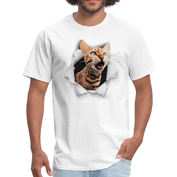 Cat with eyes Men's T-Shirt - white