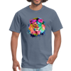 Lion with mane t-shirt - Animal Face T-Shirt - denim