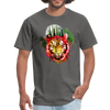 Watercolor tiger t-shirt - charcoal