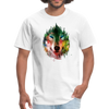 Colorful wolf t-shirt - white