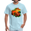 Striking tree snake t-shirt - Animal Face T-Shirt - powder blue