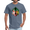 Colorful wolf t-shirt - denim