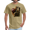 Sloth t-shirt - Animal Face T-Shirt - khaki