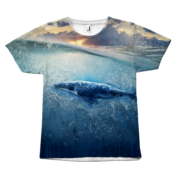 Whale All over print tshirt