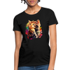 Praying Cat Women's T-Shirt - black