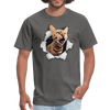 Cat with eyes Men's T-Shirt - charcoal