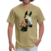 Donkey t-shirt - Animal Face T-Shirt - khaki