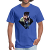 Young wolf standing T-Shirt - Animal Face T-Shirt - royal blue