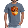 Golden Retriever Dog t-shirt - Animal Face T-Shirt - denim
