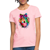 Watercolor wolf Women's T-Shirt - pink