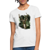 Deer with foliage Women's T-Shirt - white