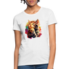Praying Cat Women's T-Shirt - white