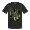 Deer Kid's Premium Organic T-Shirt - black
