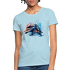 Dolphin Women's T-Shirt - powder blue