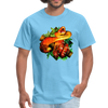 Striking tree snake t-shirt - Animal Face T-Shirt - aquatic blue