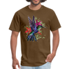 Flying Hummingbird Men's T-Shirt - brown