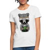 Racoon Women's T-Shirt - white